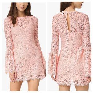 Rachel Zoe Bell Sleeve Lace Dress Blush Pink 4